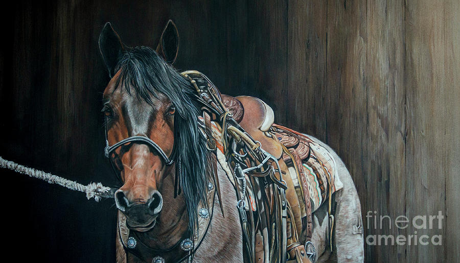 Horse Pastel - Ready and Willing  by Joni Beinborn