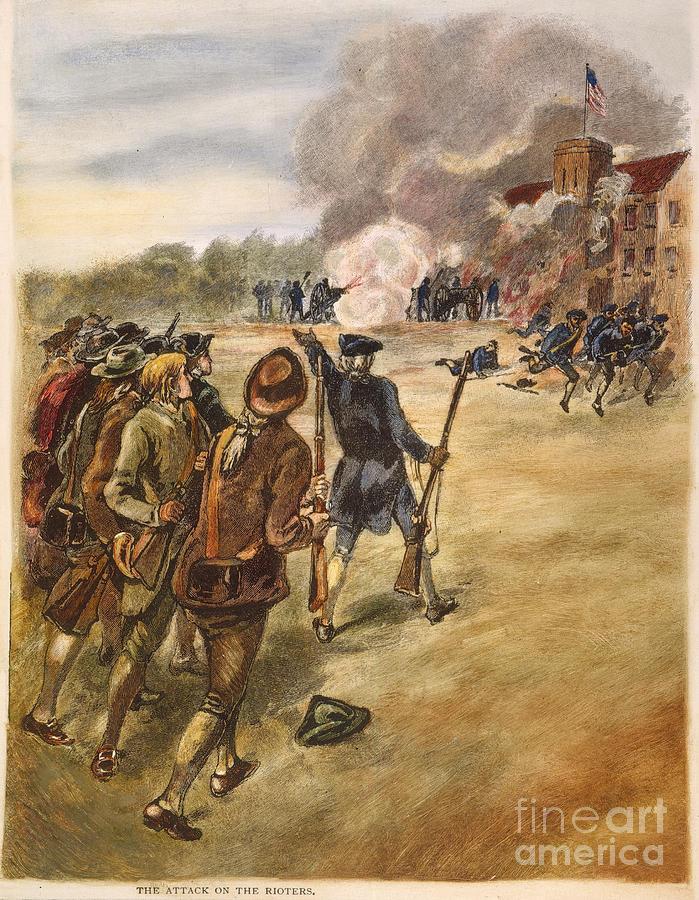 1787 Photograph - Rebels: Arsenal, 1787 by Granger