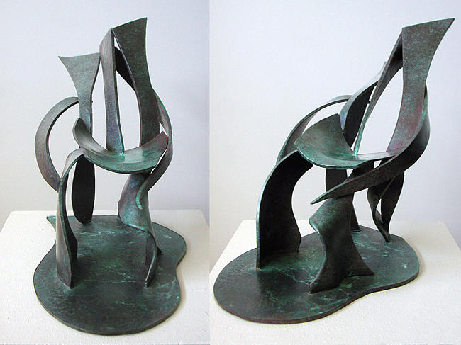 Abstract Sculpture - Recliner by John Gibbs