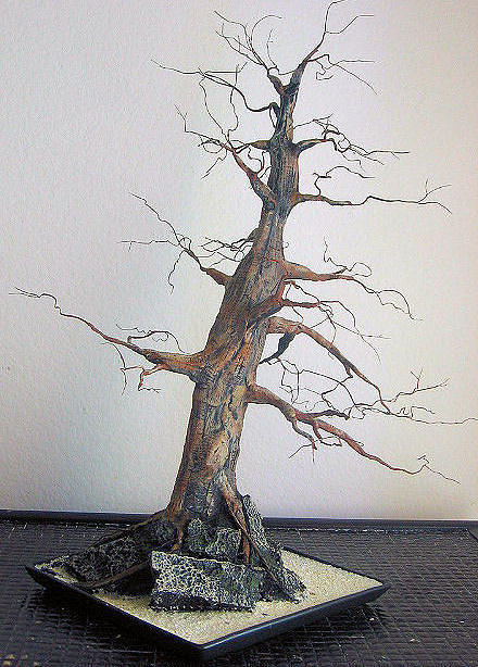 Recycled Bonsai Tree Sculpture All Hand Made No Wires No Wood Painting by Nelbert  Flores
