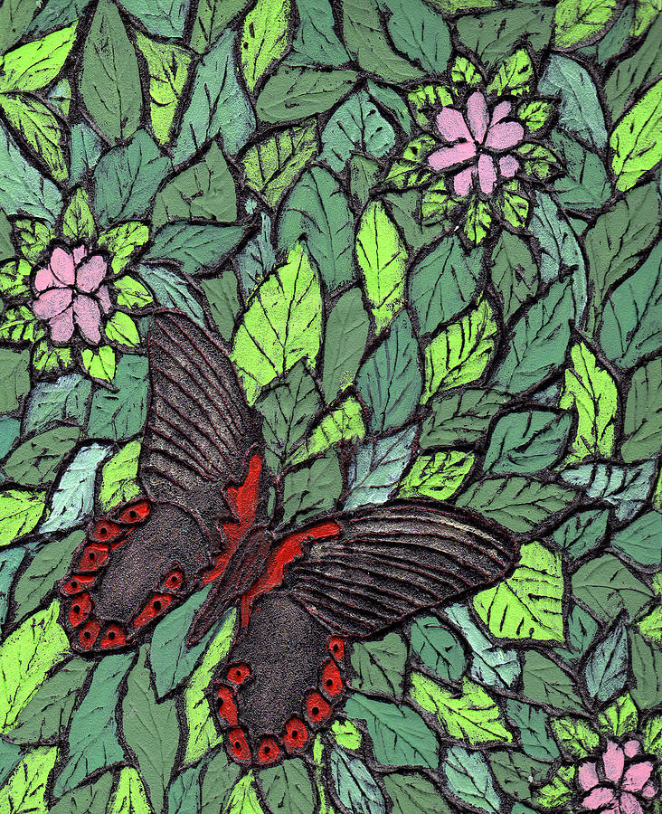 Butterfly Painting - Red Butterfly by Wayne Potrafka
