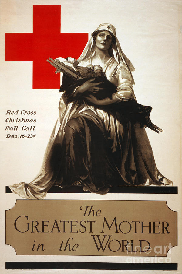 1918 Photograph - Red Cross Poster, C1918 by Granger