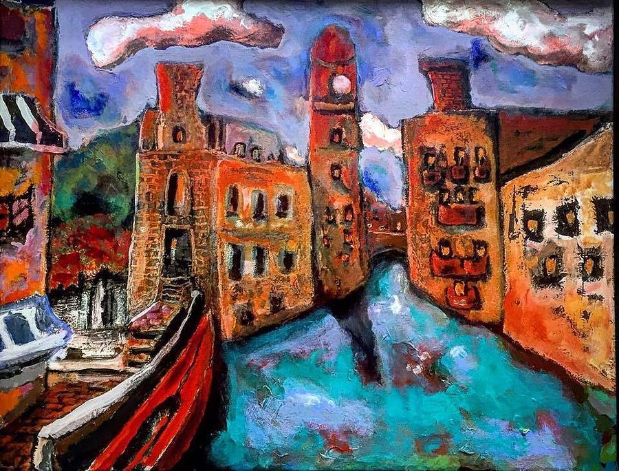 Red Gondola by Dilip Sheth