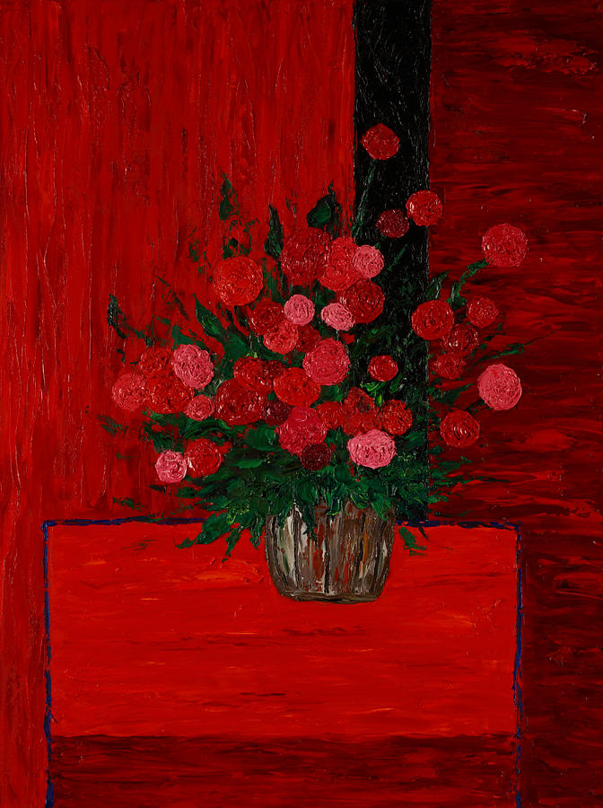 Flowers Painting - Red On Red On Red by Timothy Clayton