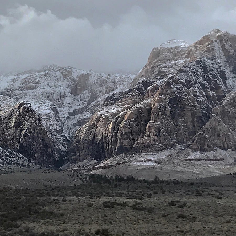 Mountains Photograph - Red Rock Canyon Snow Storm by Joe White
