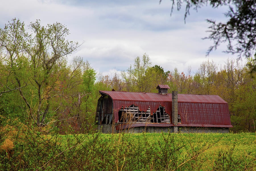 Red Roof Barn Photograph