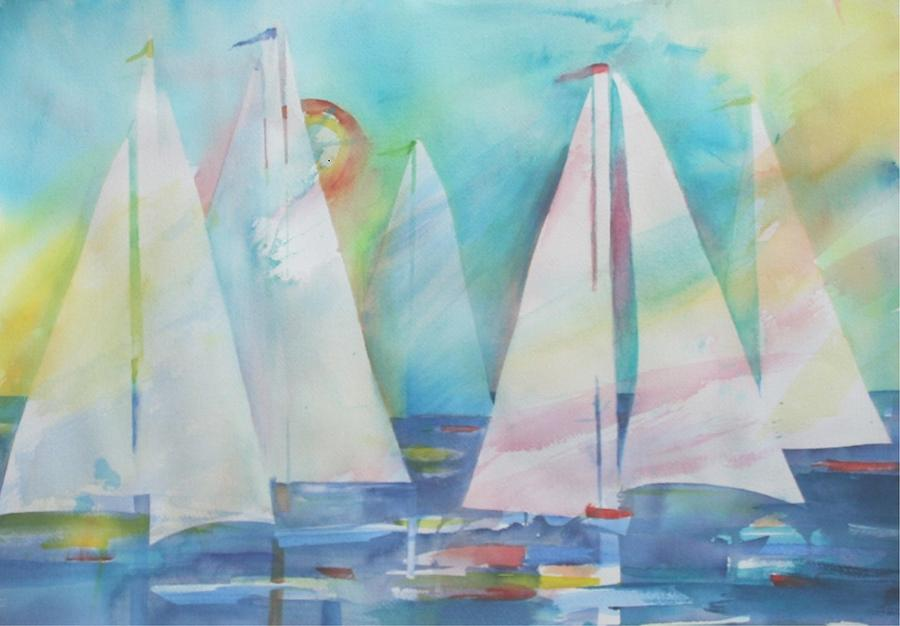 Red Sails in the Sunset by Patricia Ricci