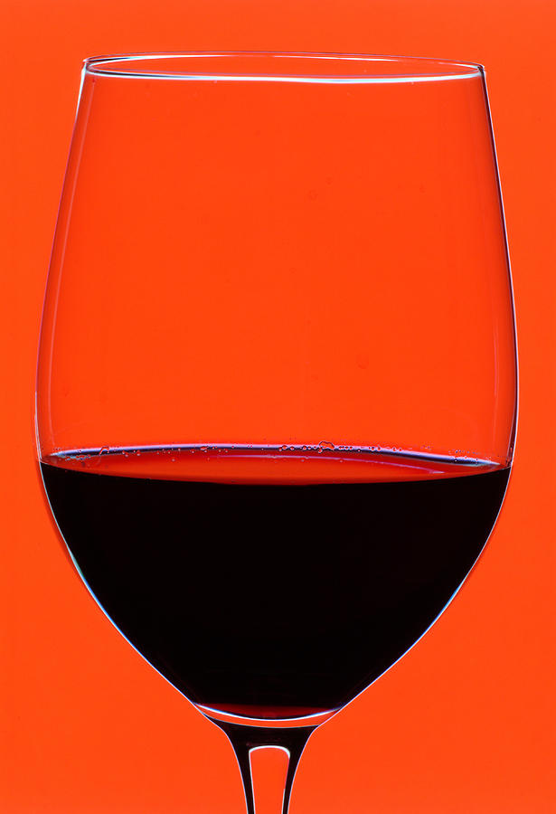 Frank Tschakert Photograph - Red Wine Glass by Frank Tschakert