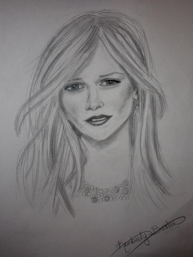 Female Actress Drawing - Reese Witherspoon by Kimber  Butler