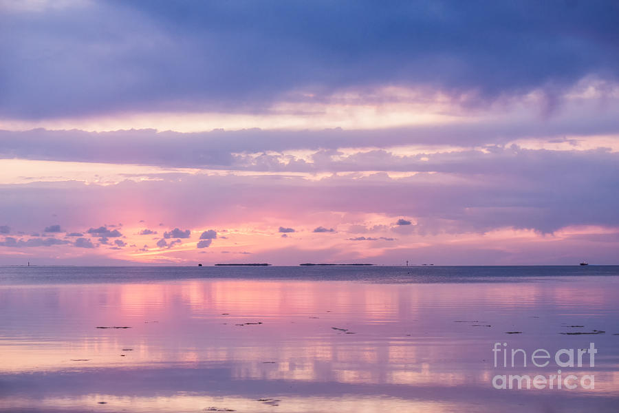 Reflections at Sunset in Key Largo by Louise Lindsay