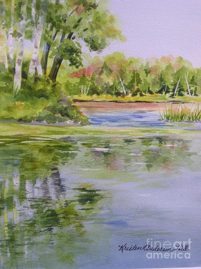 Watercolor Painting - Reflections by Kristen Anderson Hill