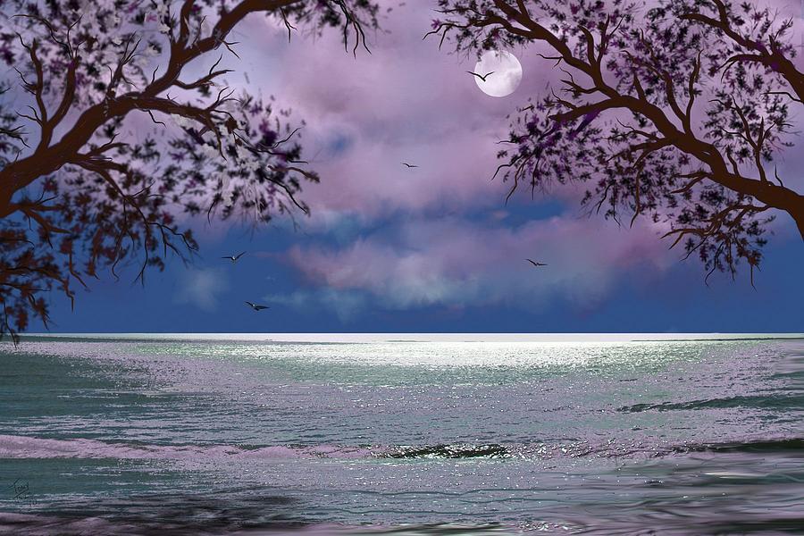 Seascape Digital Art - Reflections by Tony Rodriguez