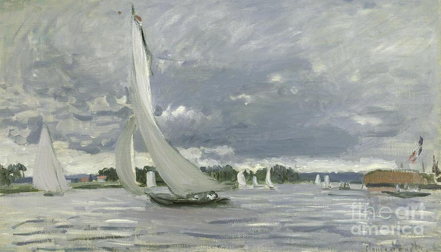 Regatta Painting - Regatta at Argenteuil by Claude Monet