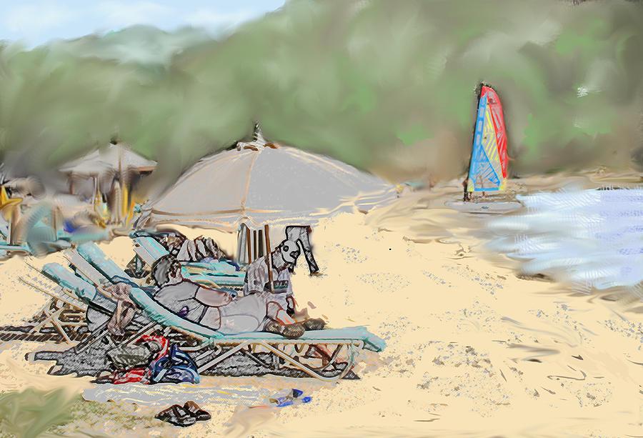 Vacation Digital Art - Reggae Beach by Ian  MacDonald