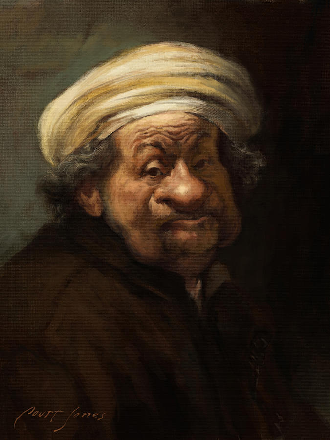 Rembrandt Painting - Rembrandt by Court Jones