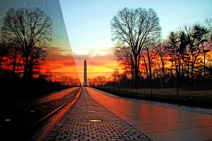 Vietnam Memorial Photograph - Resolve by Mitch Cat