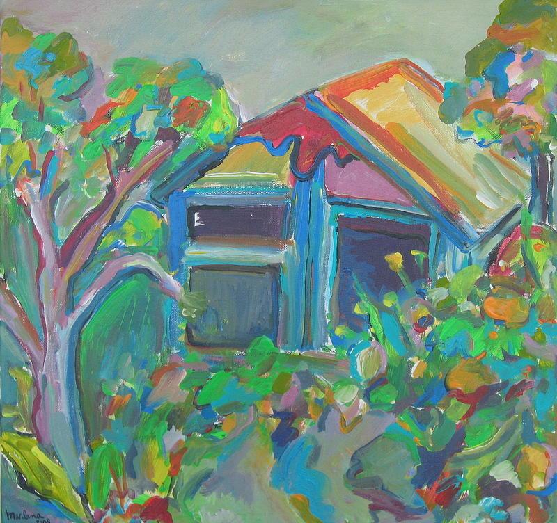 Landscape Painting - Retreat by Marlene Robbins