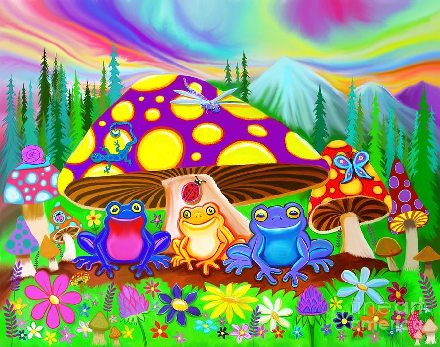 Return To Happy Frog Meadow Digital Art