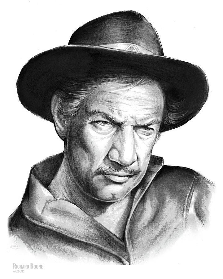 Richard Boone Drawing - Richard Boone by Greg Joens