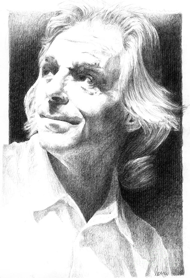 Rick Wright Drawing - Rick Wright Of Pink Floyd by Liz Molnar