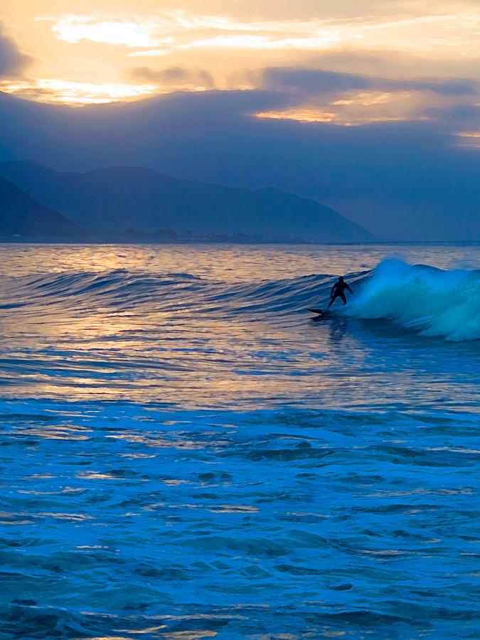 Rincon Photograph - Ride At Daybreak by Ron Regalado