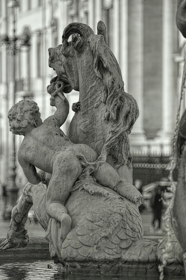 Italy Photograph - Riding The Sea-horse by JAMART Photography