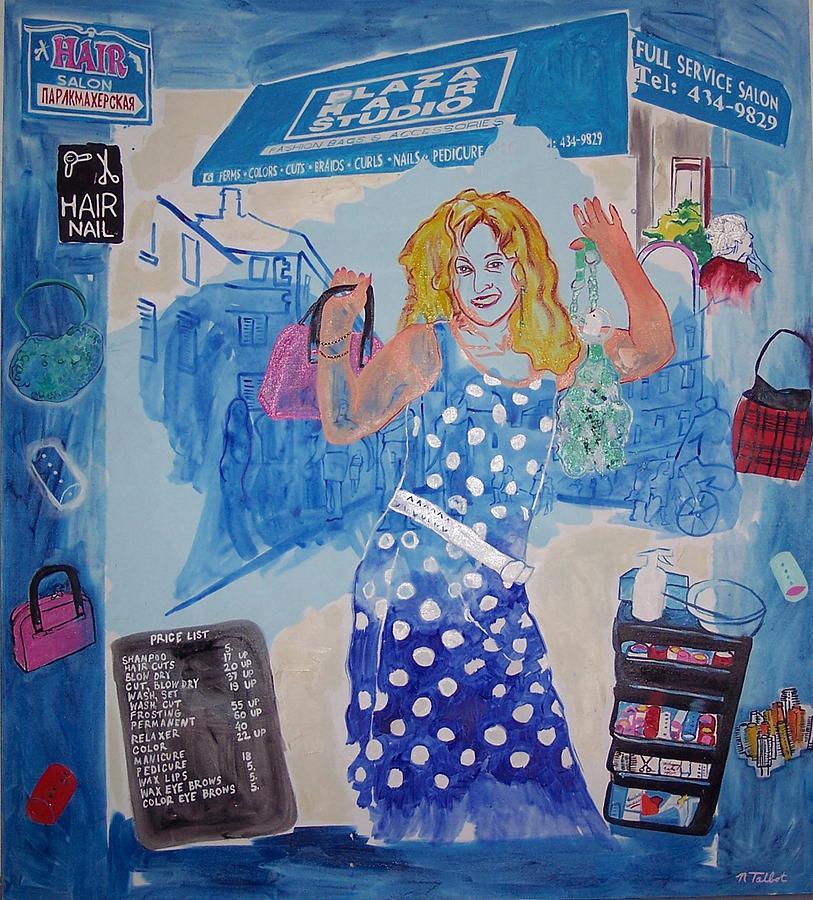 Rita Of Plaza Hair Painting by Nina Talbot