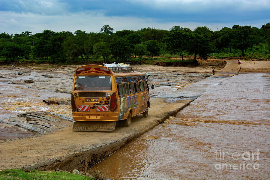 Bridges Photograph - River Crossing by Morris Keyonzo
