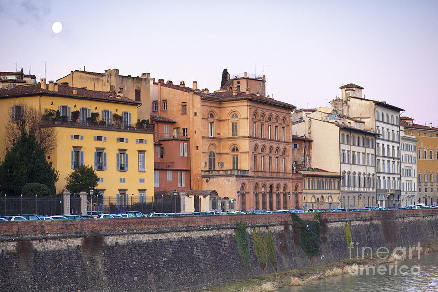 Ancient Photograph - River In Florence by Andre Goncalves
