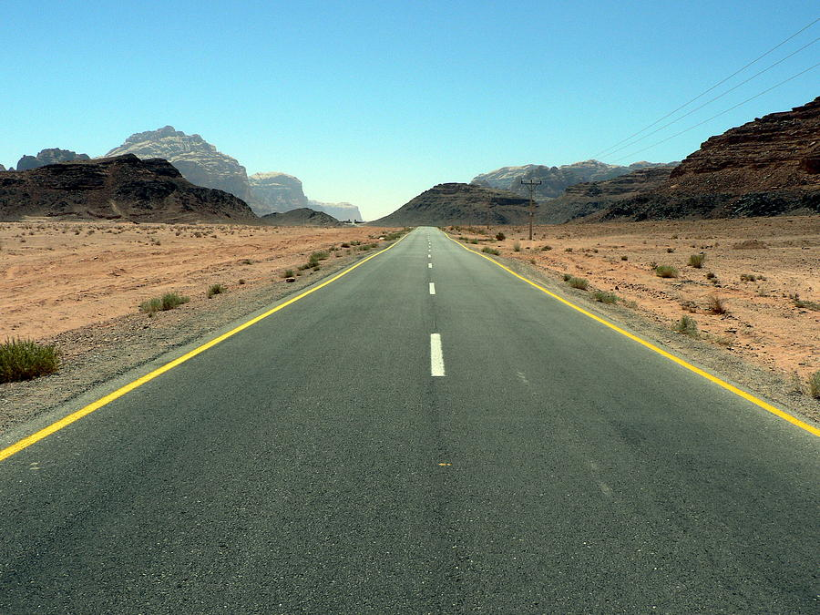 Road Photograph - Road To Wadi by James Lukashenko