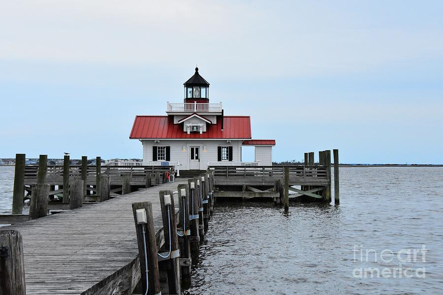 Lighthouse Photograph - Roanoke Marshes Lighthouse by Scott Cameron