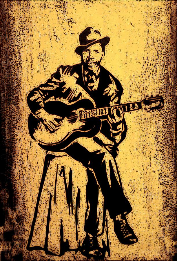 Musicians Painting - Robert Johnson by Jeff DOttavio