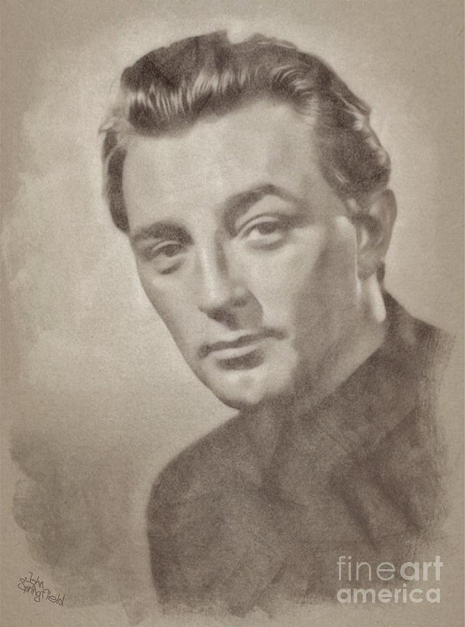 Robert Mitchum Hollywood Actor Drawing