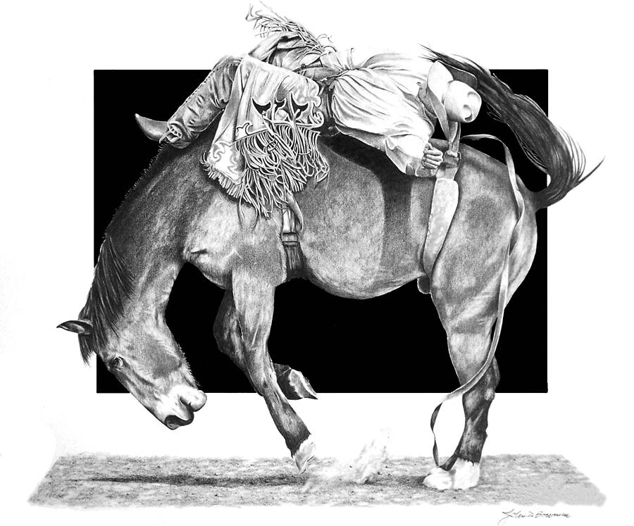 saddle bronc riding coloring pages - photo#34