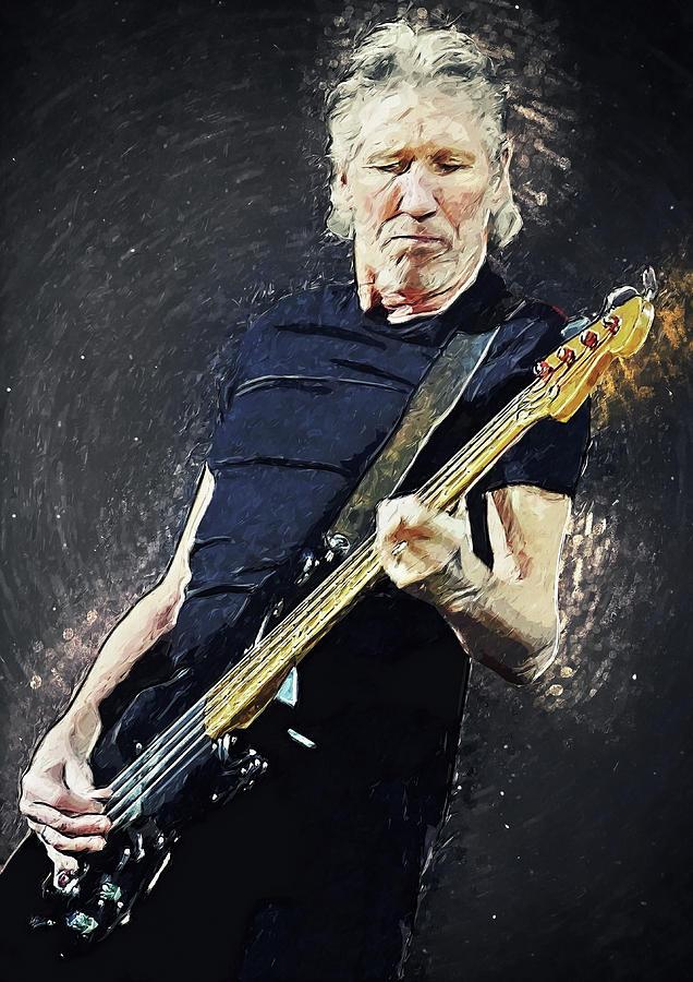 Roger Waters Digital Art - Roger Waters by Zapista Zapista