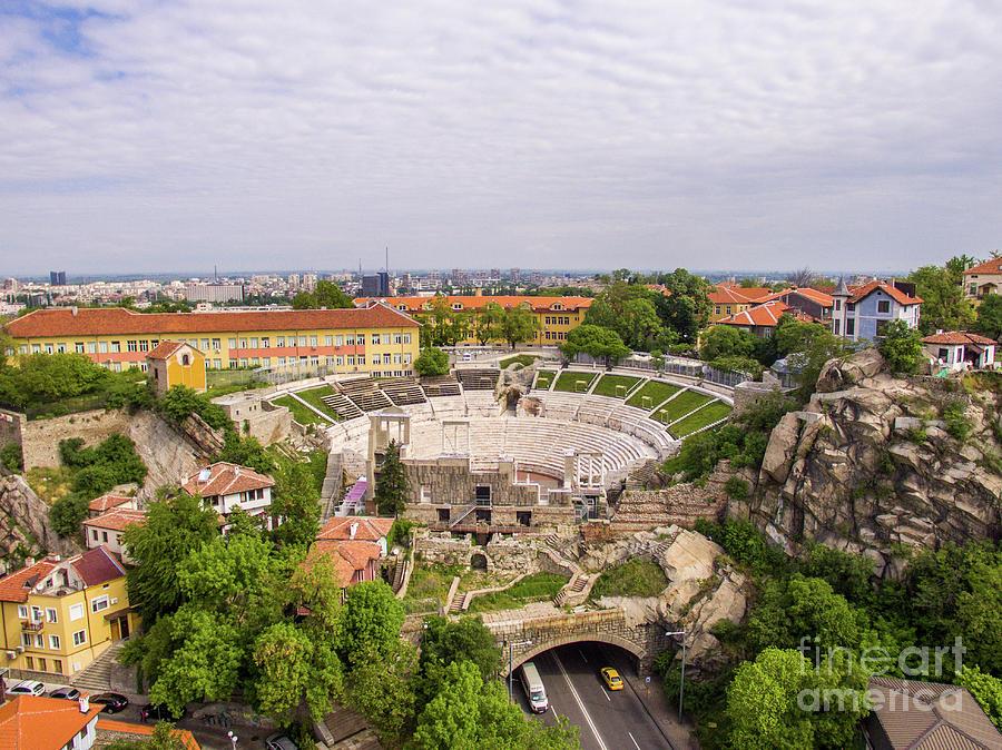 Roman amphitheater in Plovdiv by Nikolay Stoimenov