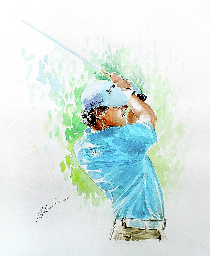 Rory Mcilroy Painting - Rory Mcilroy 2011 by Mark Robinson