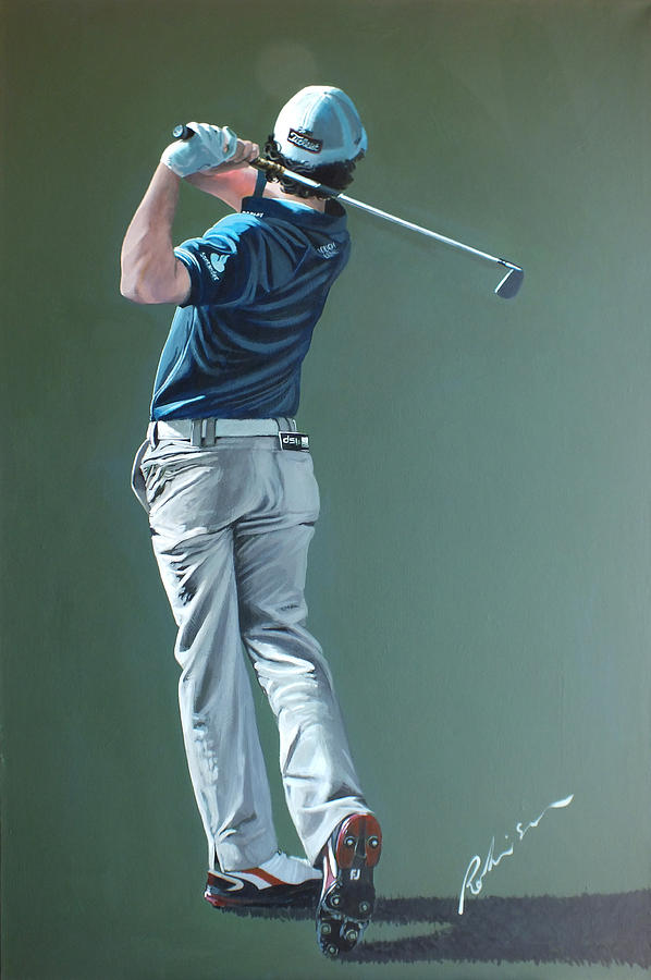 Rory Mcilroy Painting - Rory Mcilroy 2012 by Mark Robinson