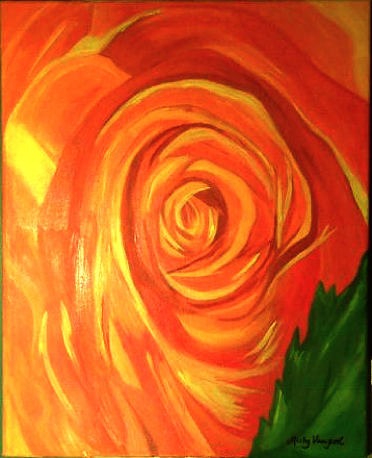 Abstract Painting - Rose by Misty VanPool