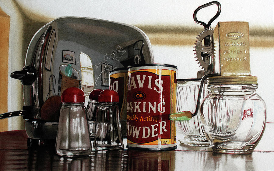 Toaster Painting - Rosebud by Denny Bond