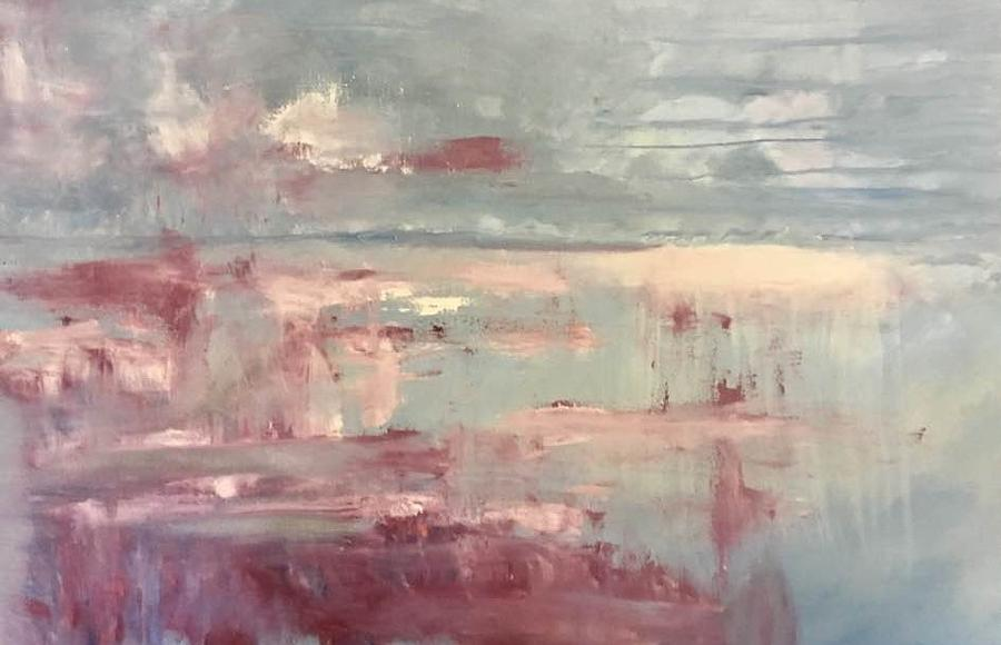 Abstract Painting - Rough Horizon by Beverly Smith