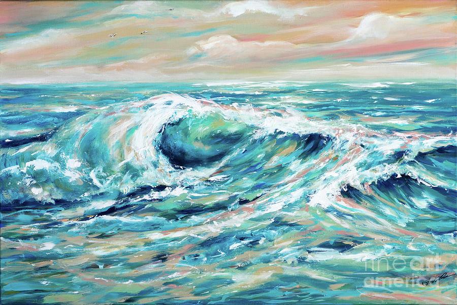 Rough Seas Painting By Linda Olsen
