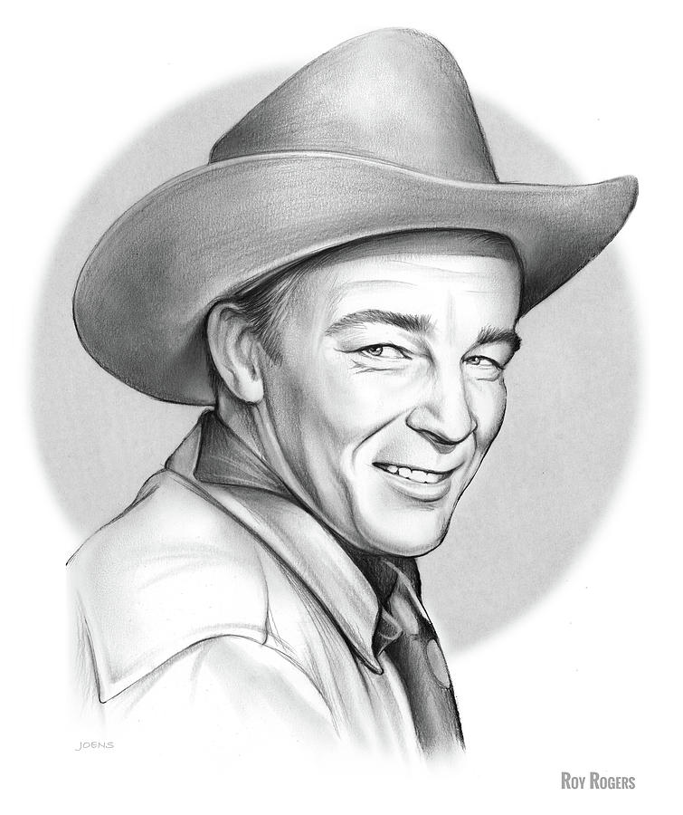 Roy Rogers Drawing - Roy Rogers 1 by Greg Joens