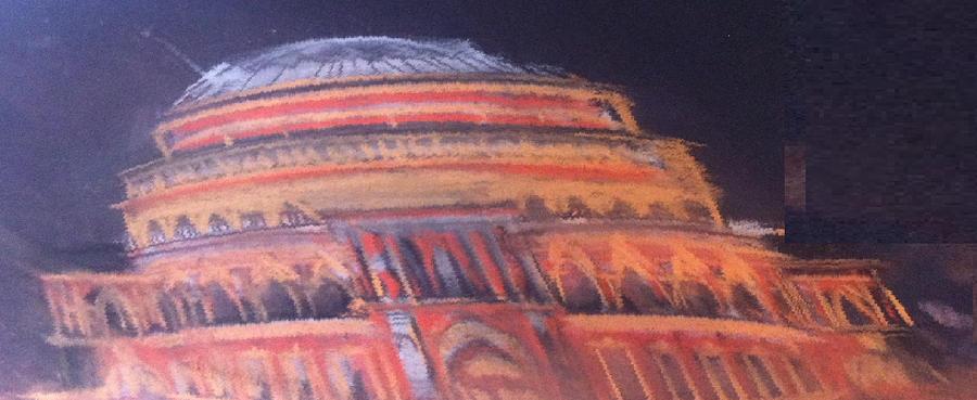 Royal Albert Hall Pastel - Royal Albert Hall by Michelle Deyna-Hayward
