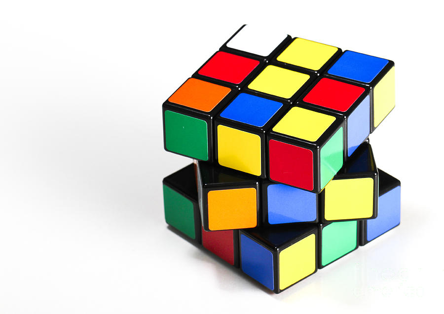 1974 Photograph - Rubiks Cube by Photo Researchers
