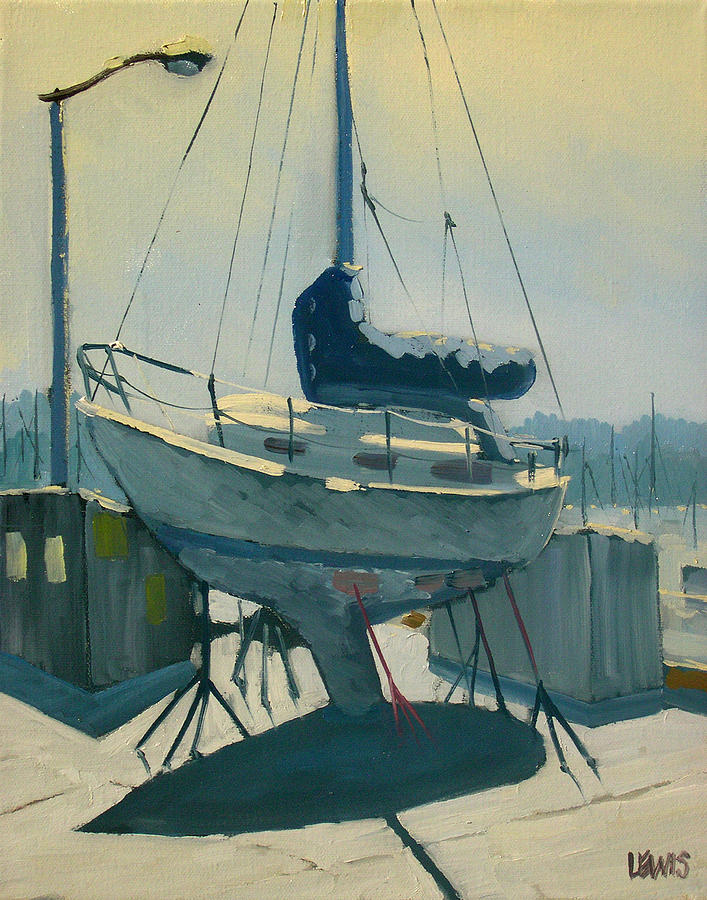 Marina Painting - Rumors by Robert Lewis