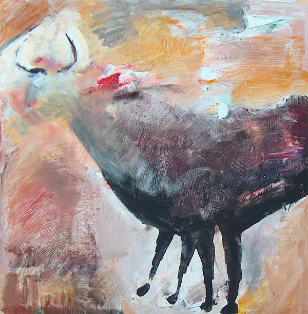 Animals Painting - Rupestre by Prisecaru Radu