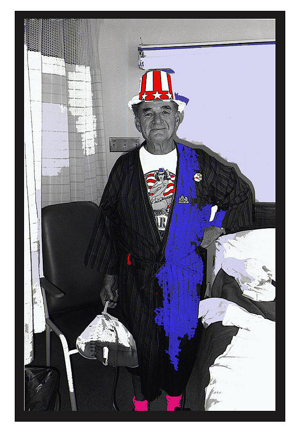 Russell Short Celebrating July 4th Tucson Medical Center 1990-2008 Photograph by David Lee Guss