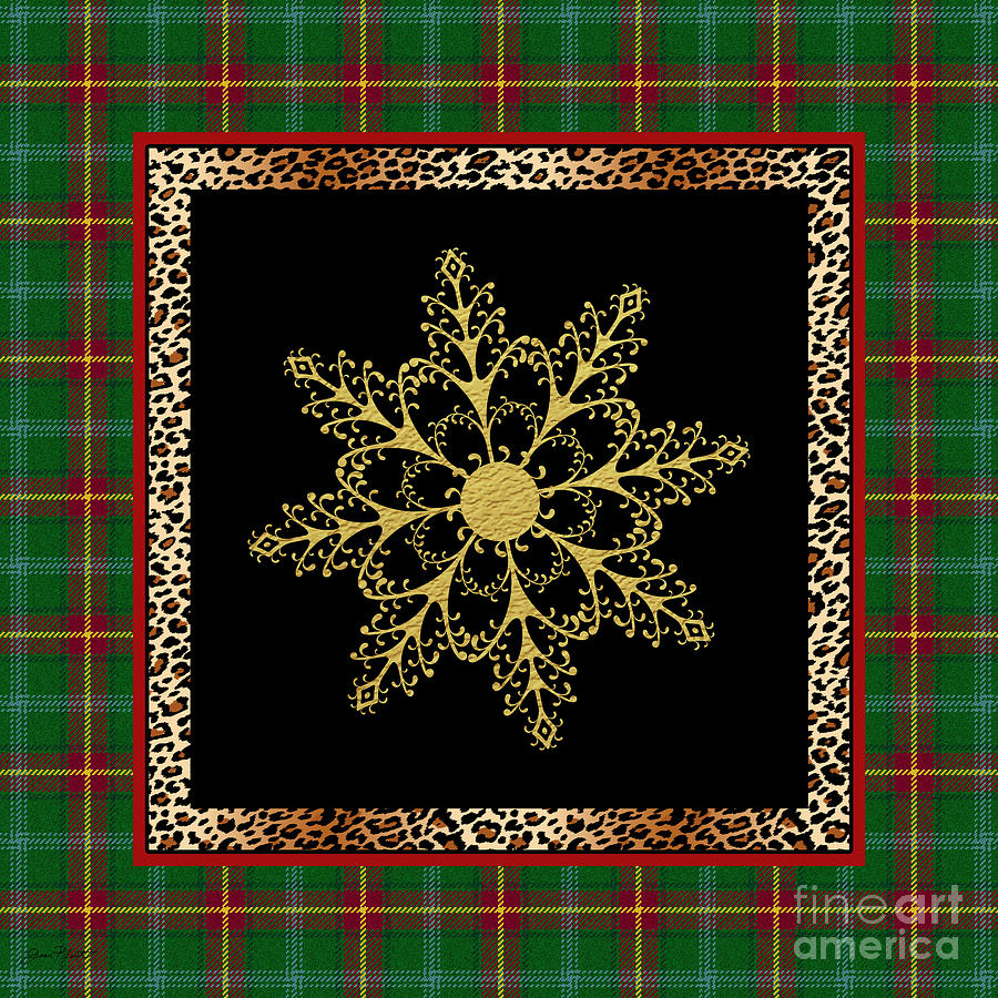 Jean Plout Painting - Rustic Snowflake-jp3695 by Jean Plout