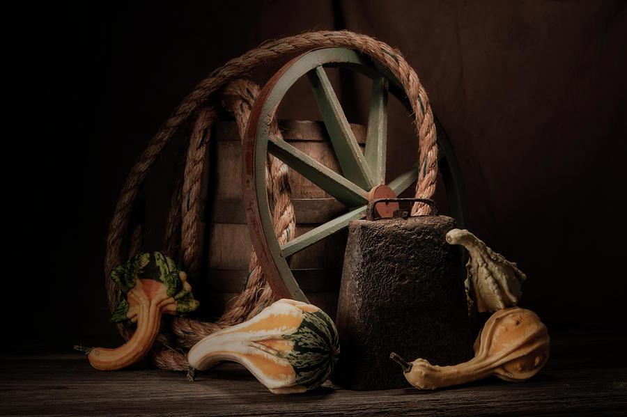 Gourd Photograph - Rustic Still Life by Tom Mc Nemar